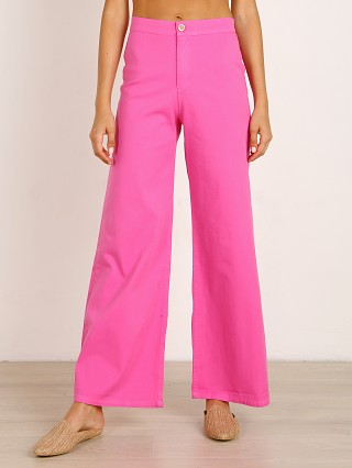 Model in flamingo Sugarhigh Lovestoned Woody Pant