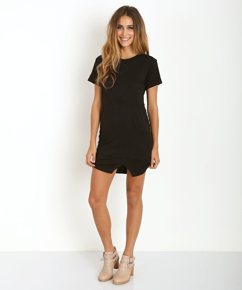 LNA Clothing Madison Tee Dress Black