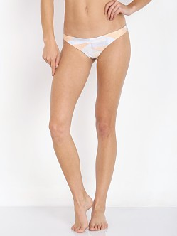 Mara Hoffman Ruched Brazilian Bottom Loom Peach