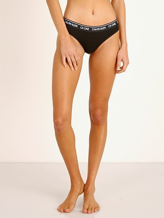 Complete the look: Calvin Klein CK One Cotton Thong Black