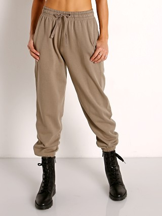 Model in warm grey Richer Poorer Recycled Fleece Sweatpants