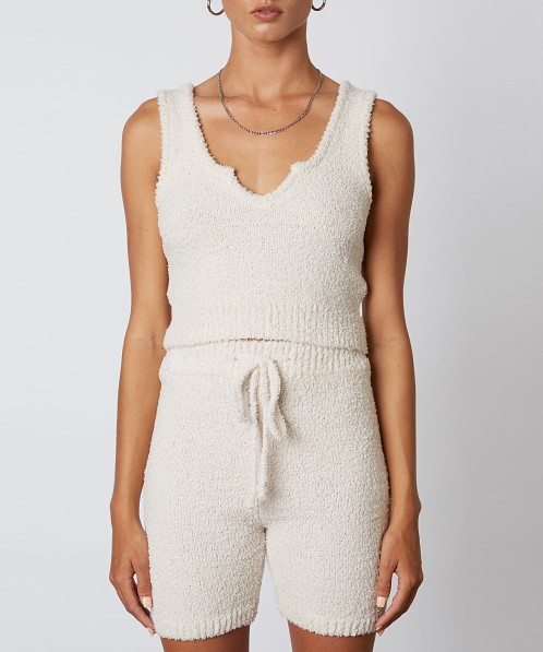 NIA Mid Length Sweater Short Natural