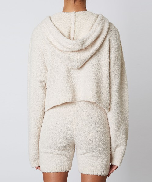 NIA Notched Hooded Sweater Natural