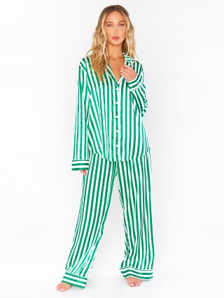 Show Me Your Mumu Sayer PJ Set Spearmint Stripe