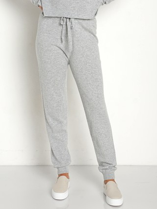 Bella Dahl Cashmere Wide Rib Jogger Heather Grey