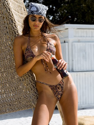 Model in meg paisley Montce Brasil Bikini Bottom