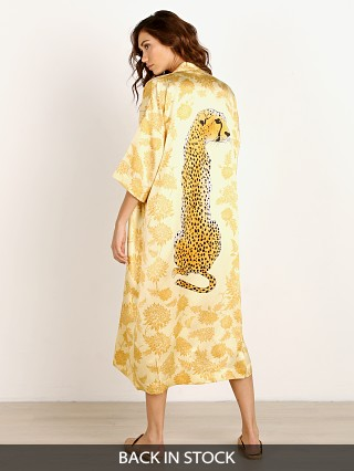 Novella Royale The Pfeiffer Silk Robe Blonde Dahlia