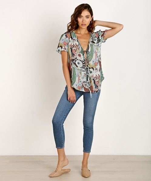 Novella Royale The Sophie Blouse Sage Floral
