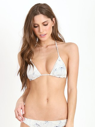 Eberjey Sea Leaves Gisele Bikini Top Ivory/Black