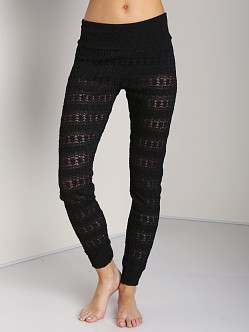 Nightcap Autum Leaf Lace Pant Black
