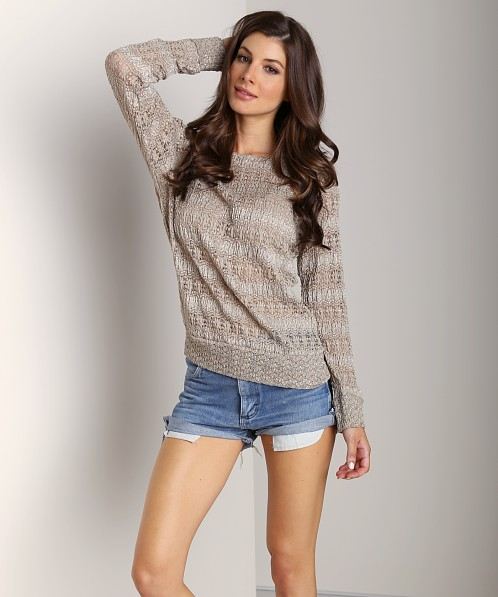 Nightcap Autum Leaf Lace Sweater Puddy