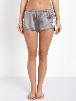 SKIVVIES by For Love & Lemons Le Fleur Satin Short Slate
