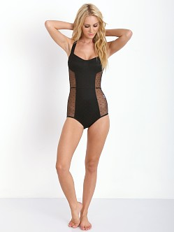 SKIVVIES by For Love & Lemons Show Off Bodysuit Black