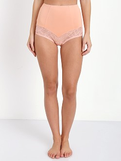 SKIVVIES by For Love & Lemons Femme Fetale Cheeky Short Peach Qu