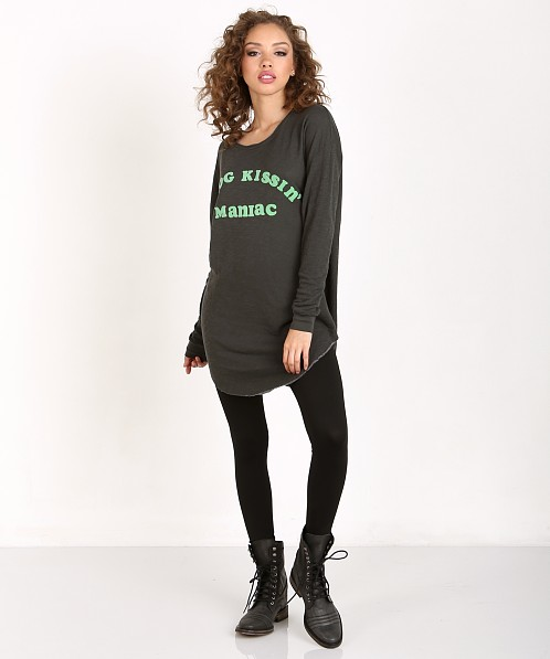 WILDFOX Frog Maniac Tuscany Tunic Dirty Black