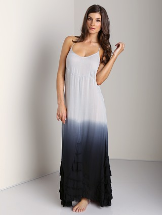 Free People Hazy Day Slip Dress Blue Grey