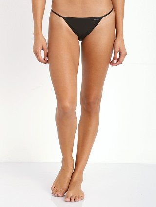 Complete the look: Calvin Klein String Bikini Black
