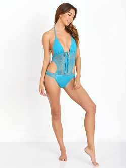 Lisa Maree Down the Garden Path Monokini Teal