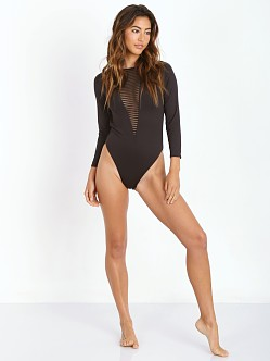 Lisa Maree A Shirtless Fool Overflow One Piece Black