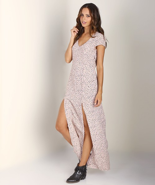For Love & Lemons Hailey Maxi Dress Pink Floral