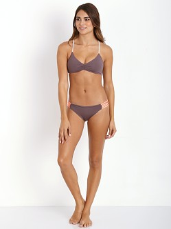 L Space Wild One Reversible Bikini Top Pebble