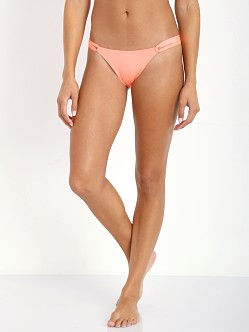 L Space Palm Beach Bikini Bottom Electric Coral