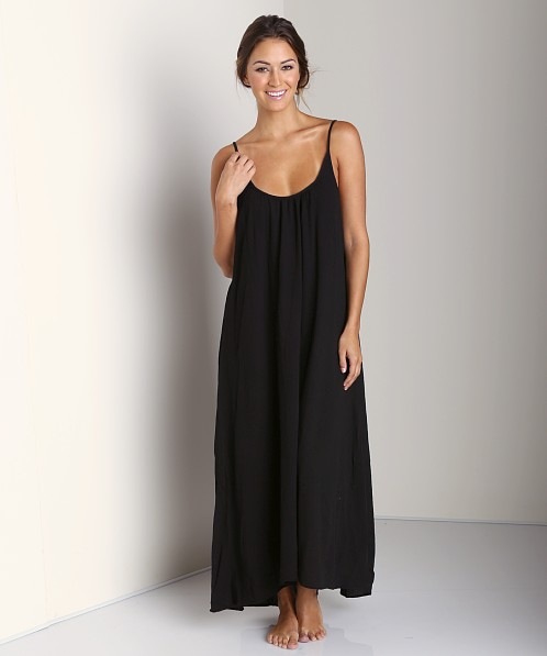 9Seed Tulum Long Cover Up Dress Black