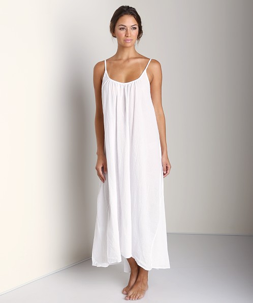 9Seed Tulum Long Cover Up Dress White