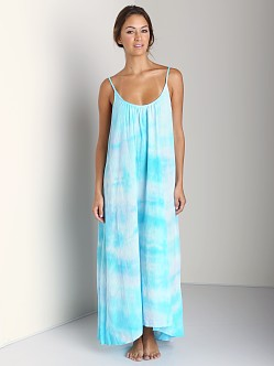 9Seed Tulum Long Cover Up Dress Ocean Tie Dye