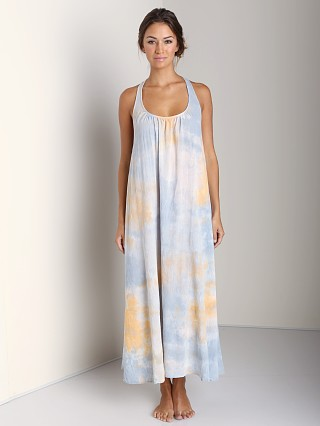 9Seed Antigua Long Cover Up Dress Dusk Tie Dye