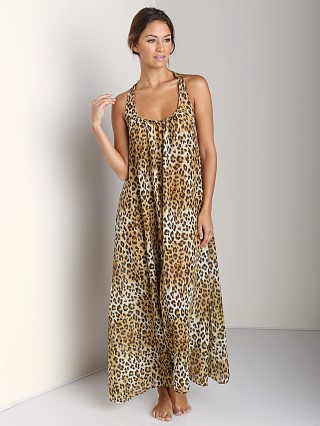 9Seed Antigua Long Cover Up Dress Leopard