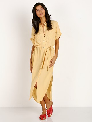 Faithfull the Brand Poolside Shirt Dress Plain Lemon Sorbet