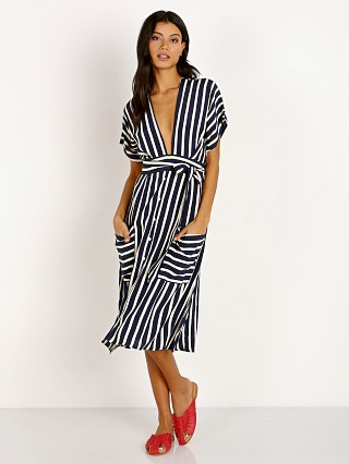 Faithfull the Brand Milan Stripe Midi Dress