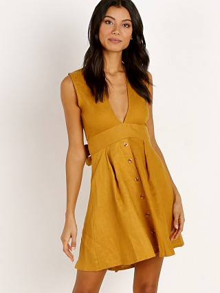 Faithfull the Brand Bari Dress Plain Marigold