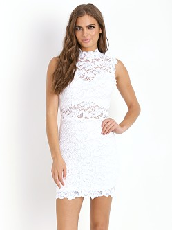 Nightcap Dixie Lace Cutout Dress White