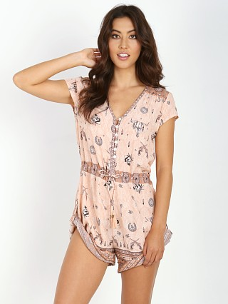 Spell Coyote Cap Sleeve Playsuit Pink