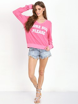 WILDFOX More Sun Please Baggy Beach Jumper Acid Pink