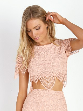 For Love & Lemons Luna Crop Top Pale Blush