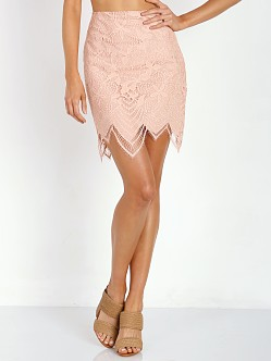 For Love & Lemons Luna Mini Skirt Pale Blush