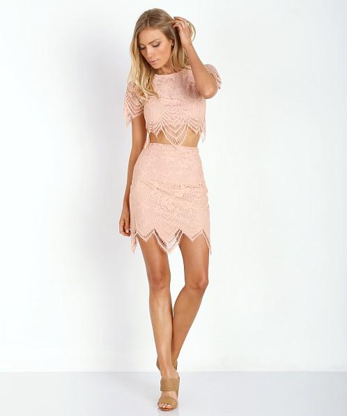 cafe2db6ec For Love   Lemons Luna Mini Skirt Pale Blush BS1165L - Free Shipping at Largo  Drive