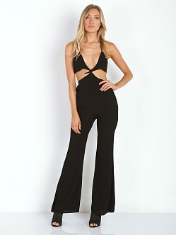 For Love & Lemons Summer Love Romper Black