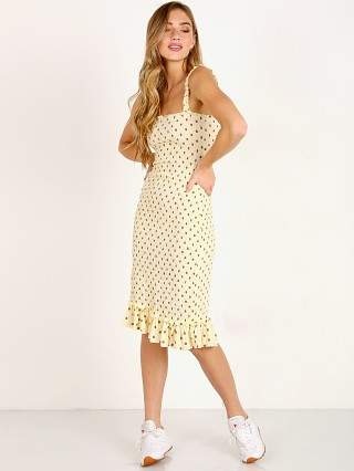 Faithfull the Brand Nadine Midi Dress Sylve Dot Print