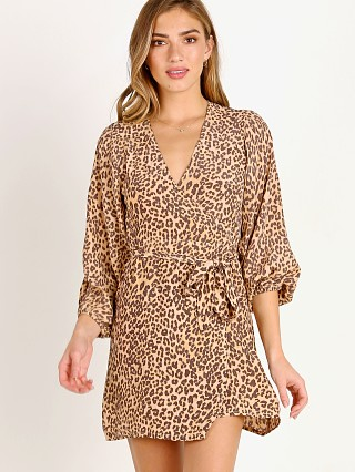 Faithfull the Brand Baja Wrap Dress Mila Animal Print