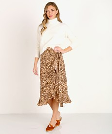 4dd3ee59ab Faithfull the Brand Celeste Wrap Skirt Mila Animal Print FF1274-MAP - Free  Shipping at Largo Drive