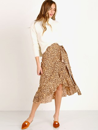 Faithfull the Brand Celeste Wrap Skirt Mila Animal Print