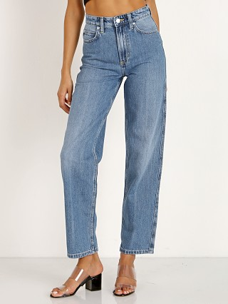 Model in crossroads Lee High Rise Relaxed Stovepipe Jean