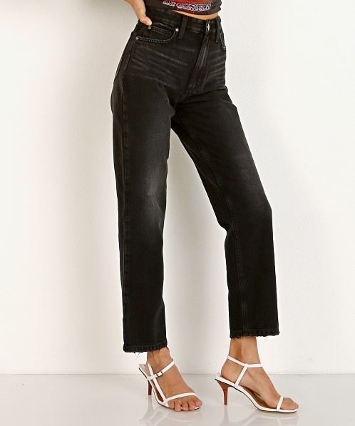 Lee Vintage Modern High Rise Straight Ankle Jean Washed Black