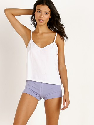 Richer Poorer Spaghetti Crop Tank White