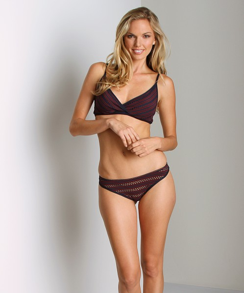 Only Hearts Clare Eyelet Jersey Bralet Claret