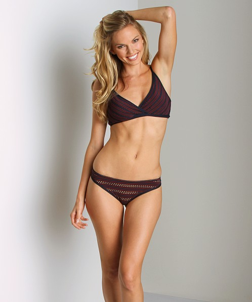 Only Hearts Clare Eyelet Jersey Thong Claret